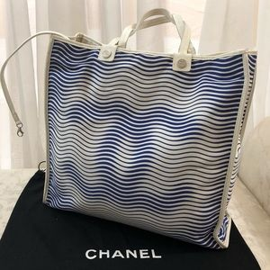🆕Chanel CC Cruise Line Canvas Large Tote Bag